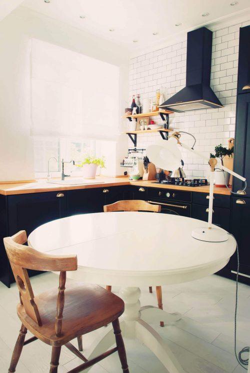 table ronde extensible pour cuisine